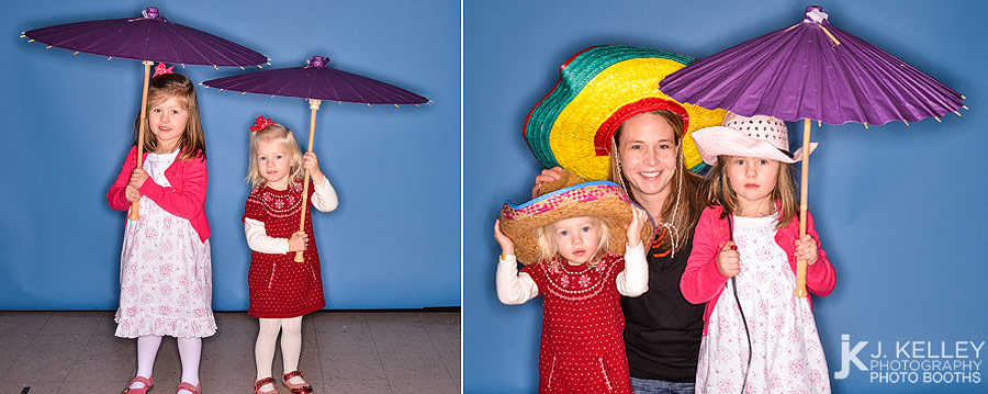Columbia, MO Photo Booth Rentals by J. Kelley Photography, custom blue background