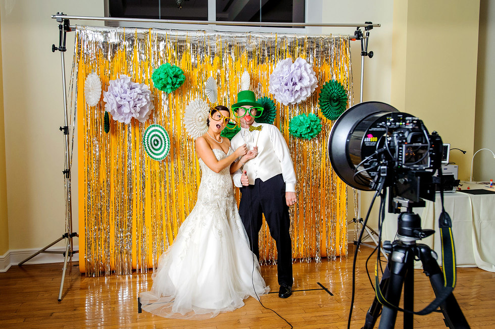 Set up view of Columbia, MO best photo booth rental