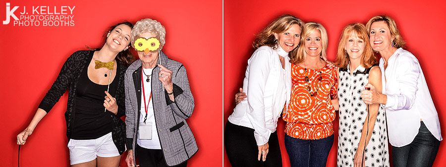 Mizzou Chi Omega Centennial Photo Booth with Custom props at the Tiger Hotel in Columbia Missouri