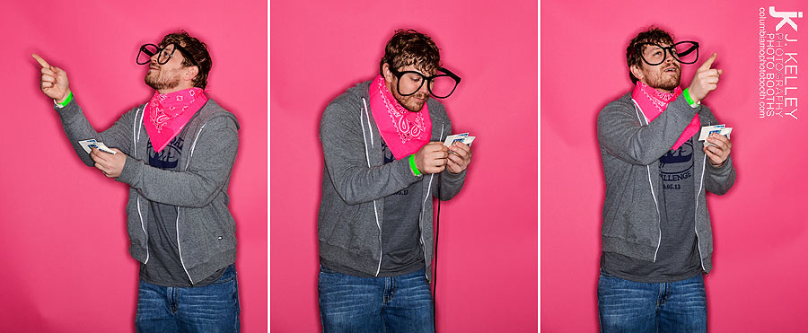 Pink Pursuit in Columbia Mo Photo booth with quesion master