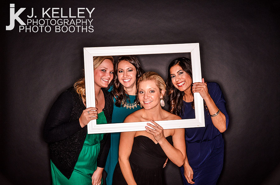 Wedding Photo Booth rental in Columbia, Mo. with black backdrop