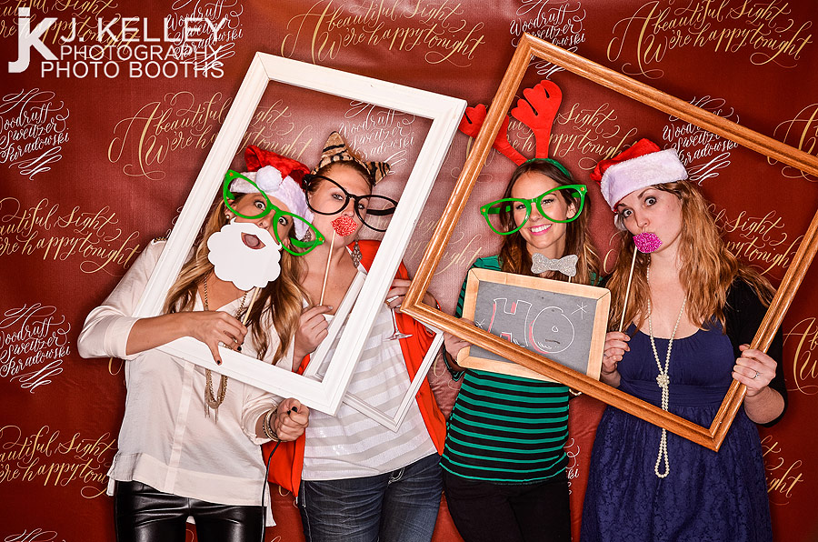 Columbia Missouri corporate holiday party photo booth rental