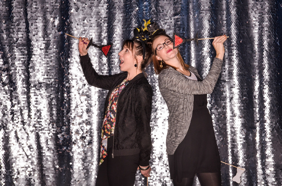 Drop It Modern Silver Sequin backdrop for Columbia MO Photo Booth Rentals