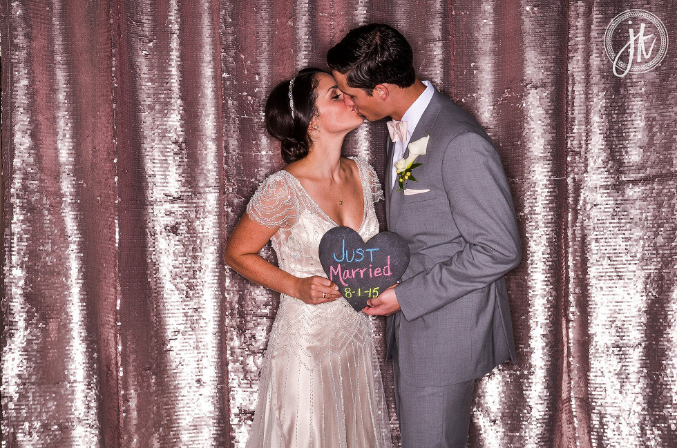 Bissingers Caramel Room Photo Booth Rental for Wedding Reception in St. Louis